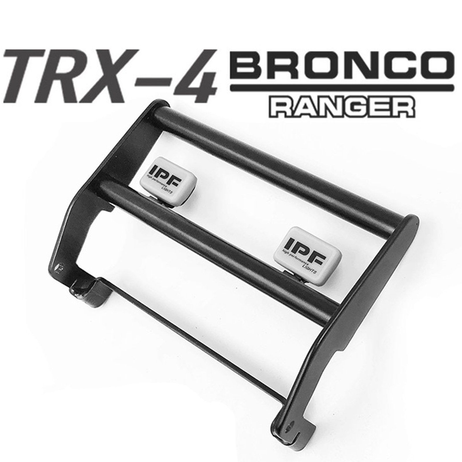 RC Car Accessories Metal Front Bumper W/ LED Light for TRAXXAS TRX-4