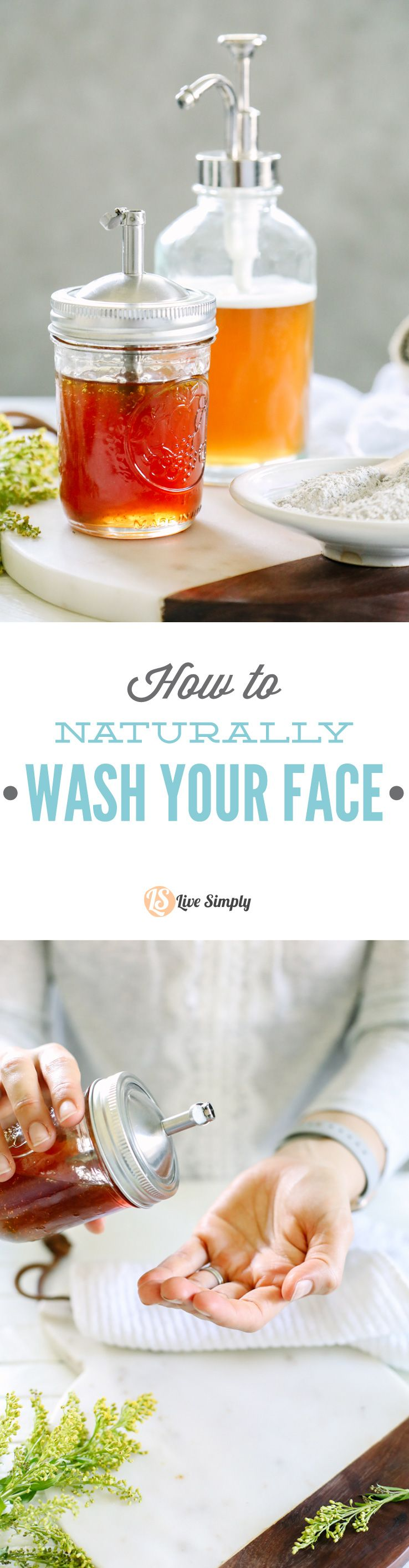 How to Naturally Wash Your Face Simple DIY (Homemade