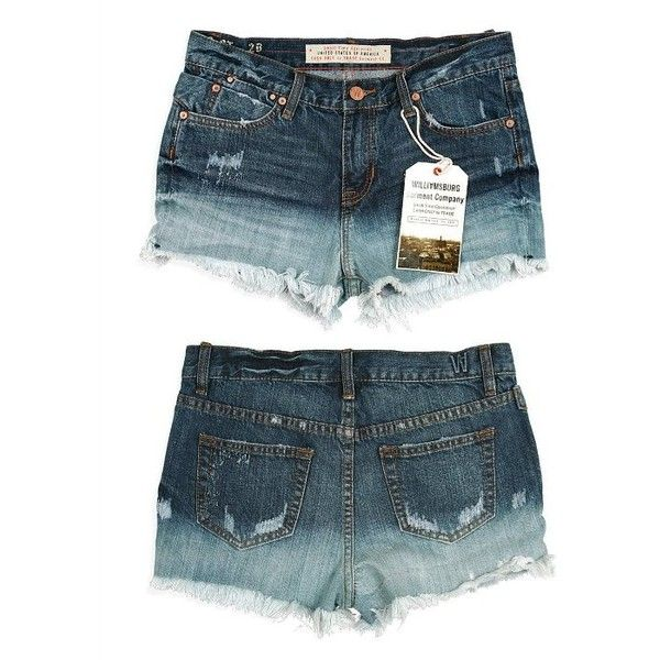 Williamsburg Garment Co Destroyed Wash Women's Cut-Off Denim Shorts ($95) ❤ liked on Polyvore featuring shorts, white fade, ripped denim shorts, denim shorts, white cut off shorts, distressed shorts and jean shorts