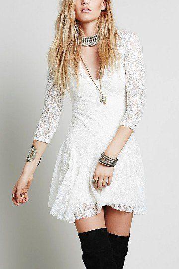 Vestido blanco del cordón del patín