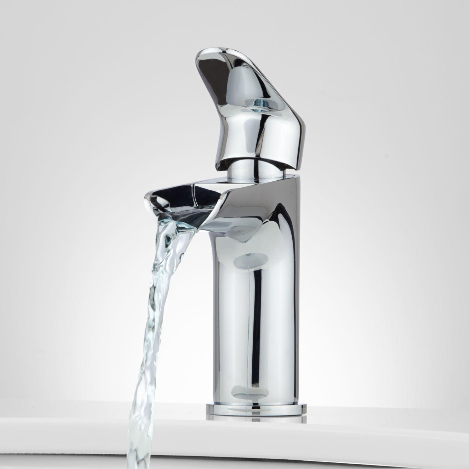 Pagosa Waterfall Single-Hole Bathroom Faucet | Waterfall faucet ...