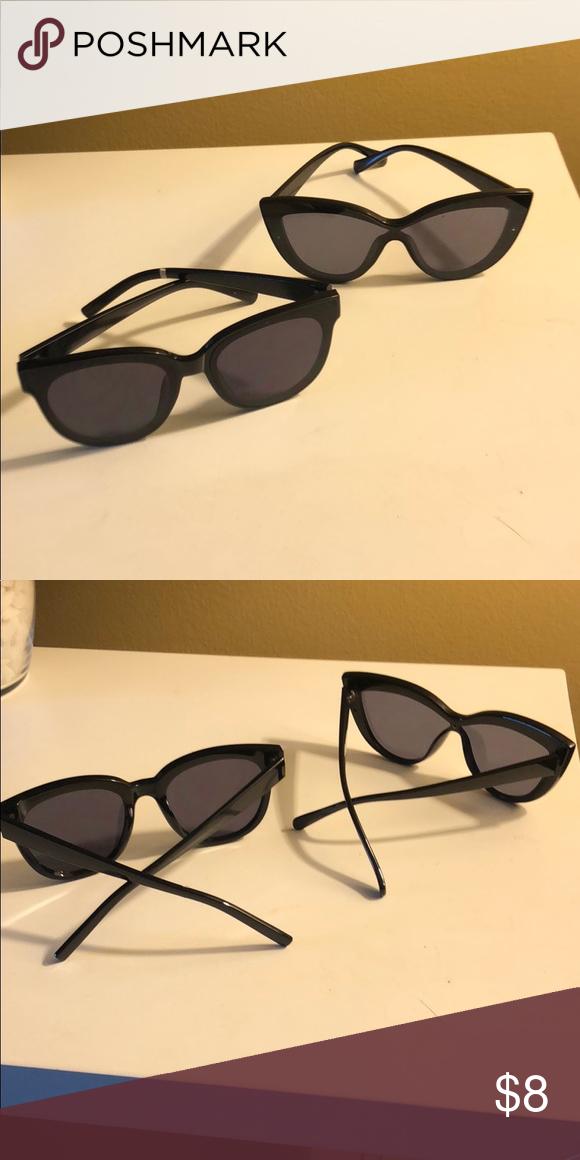 db90e019e17d High Fashion Sunglasses Double trouble deep blank sunglasses Aldo Accessories  Glasses