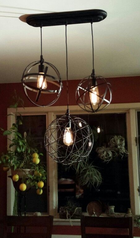 My homemade chandelier adornos pinterest hierro adornos y arte my homemade chandelier aloadofball Images