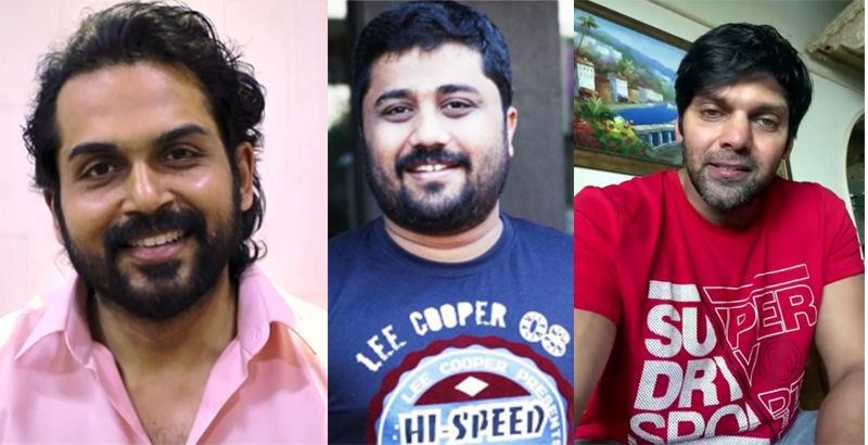 Actor Karthi,Arya wishes to Producer Gnanavel Raja Green cinemas Theater at Padi
