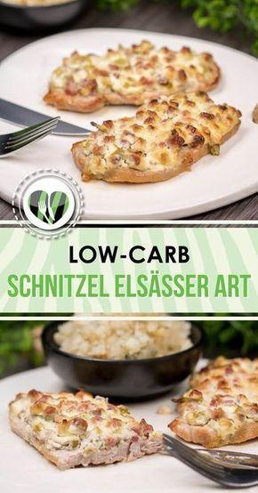Schnitzel Elsässer Art - schnell, einfach, lecker - Low Carb - LCHF - Keto