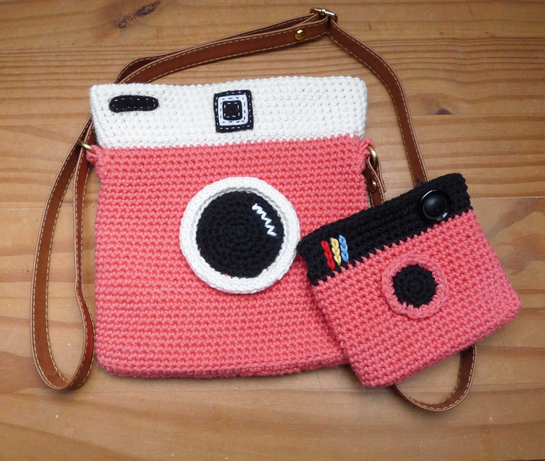 Cute crocheted camera-style crossbody bag with coin/card purse, lined with inside zip pocket, 7 1/2 x 8 (19 x 20cm), faux leather strap #crochetcamera Cute crocheted camera-style crossbody bag with coin/card purse, lined with inside zip pocket, 7 1/2 x 8 (19 x 20cm), faux leather strap by GrannyMadeaBag on Etsy #crochetcamera Cute crocheted camera-style crossbody bag with coin/card purse, lined with inside zip pocket, 7 1/2 x 8 (19 x 20cm), faux leather strap #crochetcamera Cute crocheted camera #crochetcamera