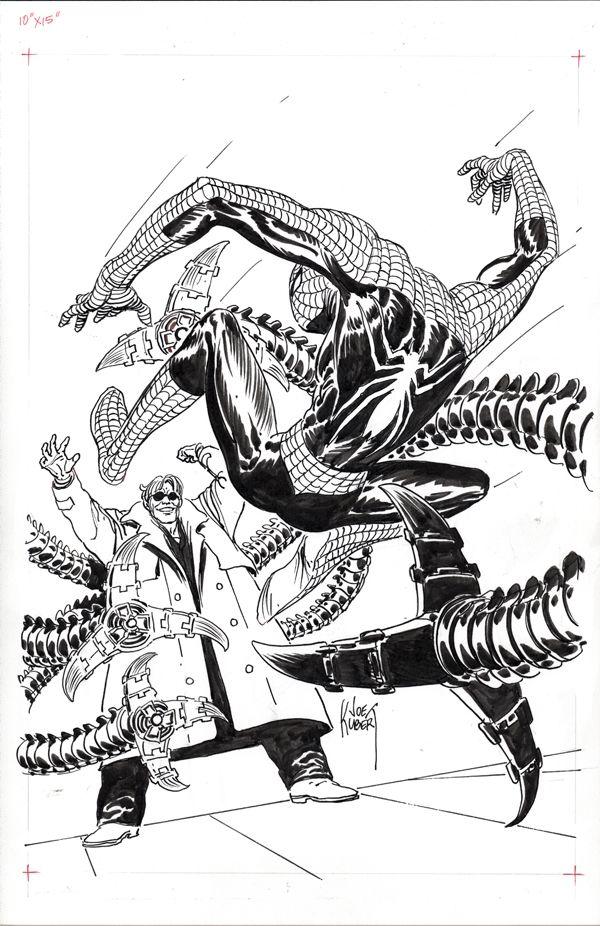 Joe Kubert Spider Man Original Art Spiderman Art Sketch Marvel Comics Art Spiderman Art