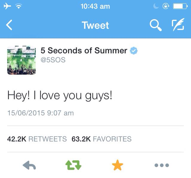 5 Seconds Of Summer tweet about