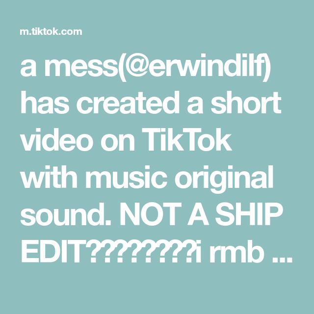 A Mess Erwindilf Has Created A Short Video On Tiktok With Music Original Sound Not A Ship Edit I R The Originals Jojo S Bizarre Adventure Music