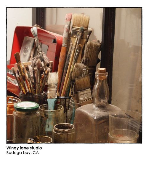 Love having brushes displayed in jars