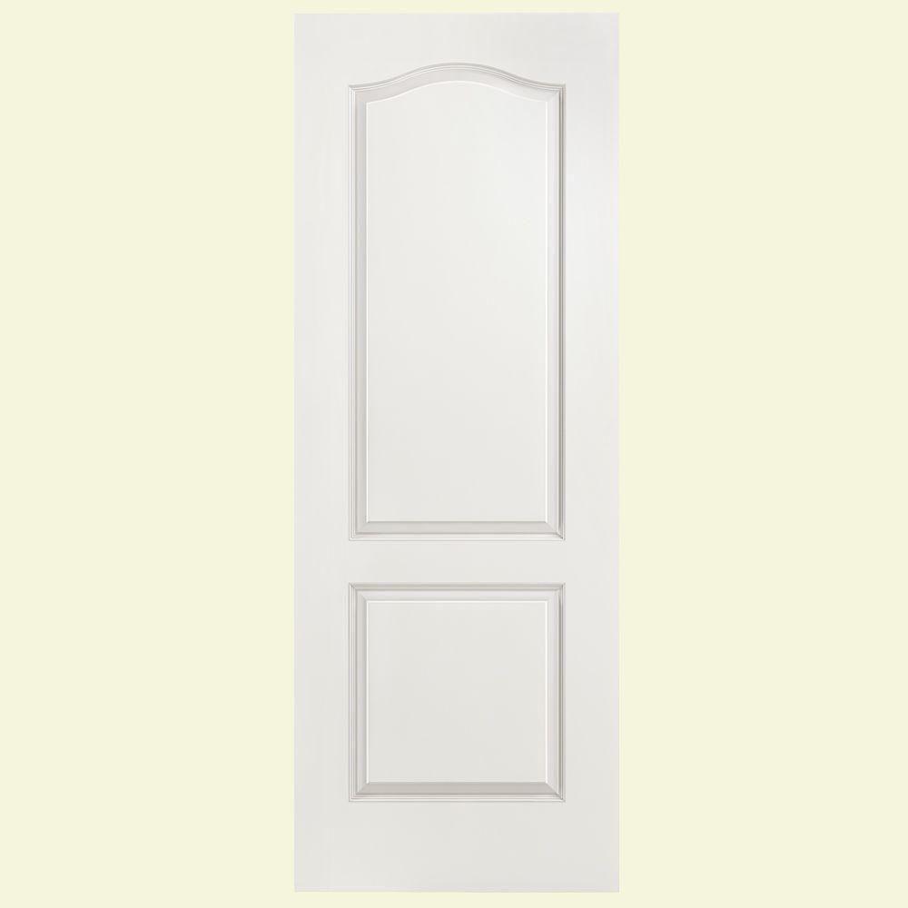 Masonite 28 In X 80 In Smooth 2 Panel Arch Top Hollow Core Primed Composite Interior Door Slab Doors Interior Interior Doors For Sale Wood Doors Interior