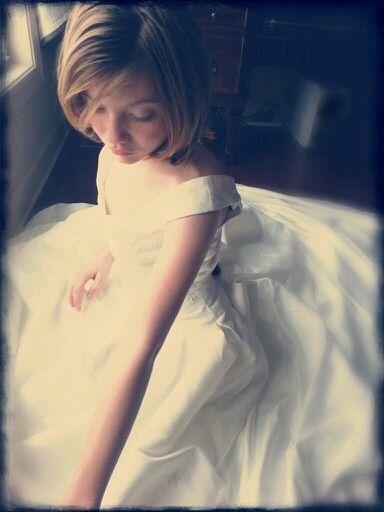 My daughter in my wedding dress.