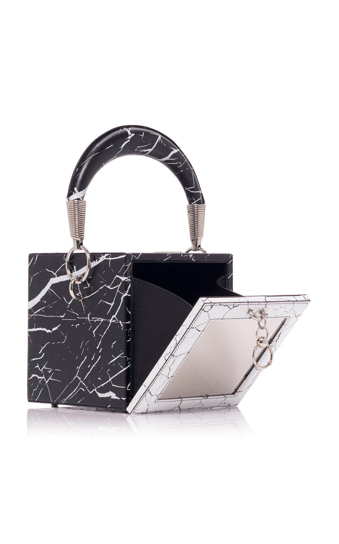 254ad7f5 Coffret Marbled Leather Cube Bag by Balmain SS19 | Moda Operandi ...