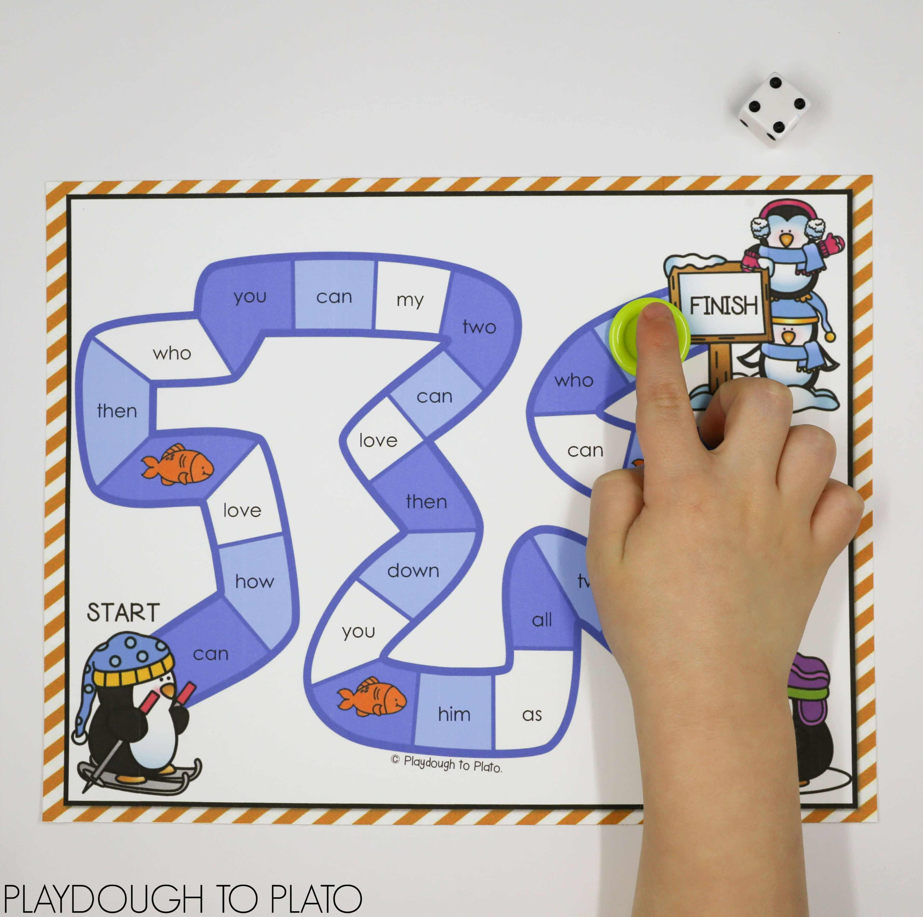 Penguin Sight Word Game