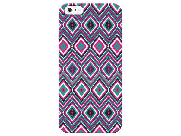 Purple Light Pink Diamond Pattern Phone Case
