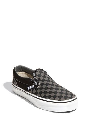 187b5b7cf45497 Little Kid 12.5M-13M. Black pewter. Vans  Classic - Checker  Slip-On  (Toddler