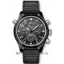 IWC Pilot's Doble para hombre Cronografo TOP GUN reloj IW379901