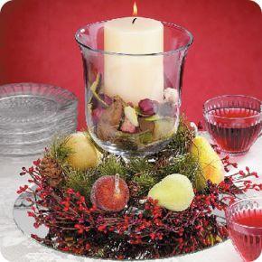 Decoracion de navidad para mesas comedor navideo Pinterest