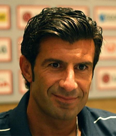 Luís Figo - perhaps the most striking and most photogenic soccer player who has ever participated in a World Cup tournament...