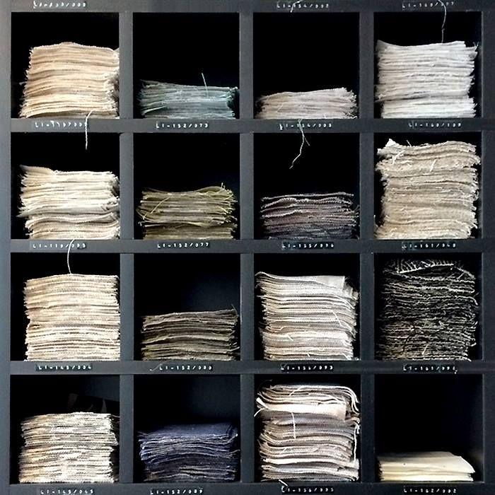 Amostras de tecidos naturais Beraldin: um mundo de opções para personalizar os seus projetos.  #EmporioBeraldin