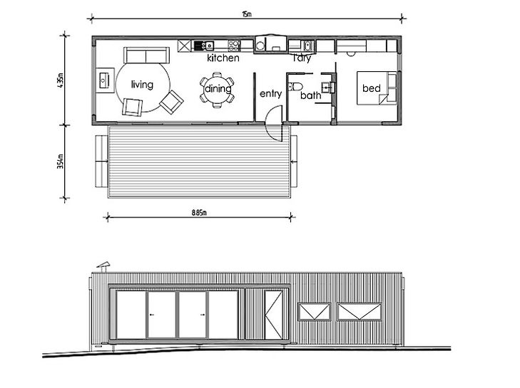 Modscape A Tiny Self Sufficient Cabin In Rural Australia Small House Plans House Plans Modular Homes