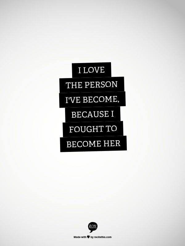 I fought