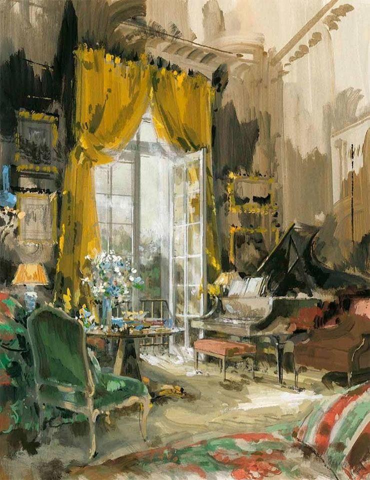 "Dining room, 19 Rue de Constantine, Paris"", 1960 - Jeremiah ..."