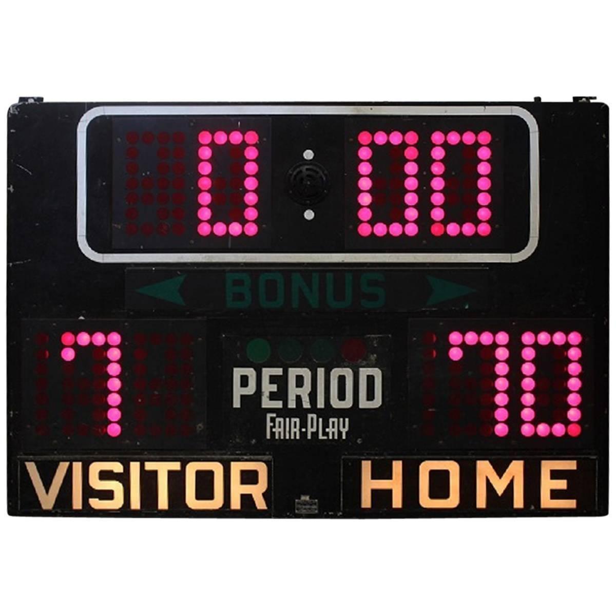 1950s American Basketball Scoreboard 1 Basketball