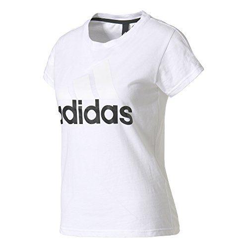 hot sale online 57102 1e076 adidas Essentials Linear T-Shirt Femme Blanc FR  M (Taille Fabricant  M)