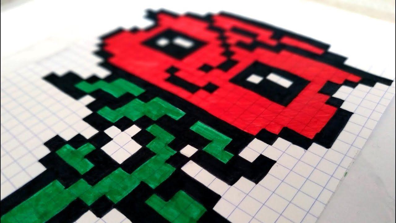 Comment Dessiner Une Rose Kawaii En Pixel Art Asmr