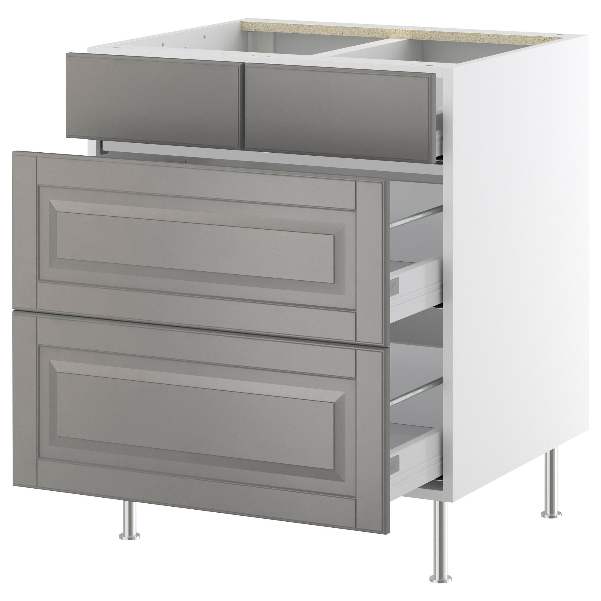 Best Akurum Base Cabinet With 2 2 Drawers White Lidi Gray 400 x 300
