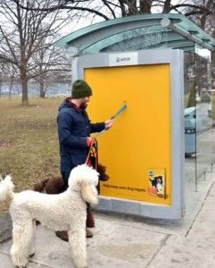 Pedigree Gets Literal Giving Away Plastic Bags On An Ooh Ad Created For Astral S Carte Blanche Contest Dog Park Design Dogs Dog Park