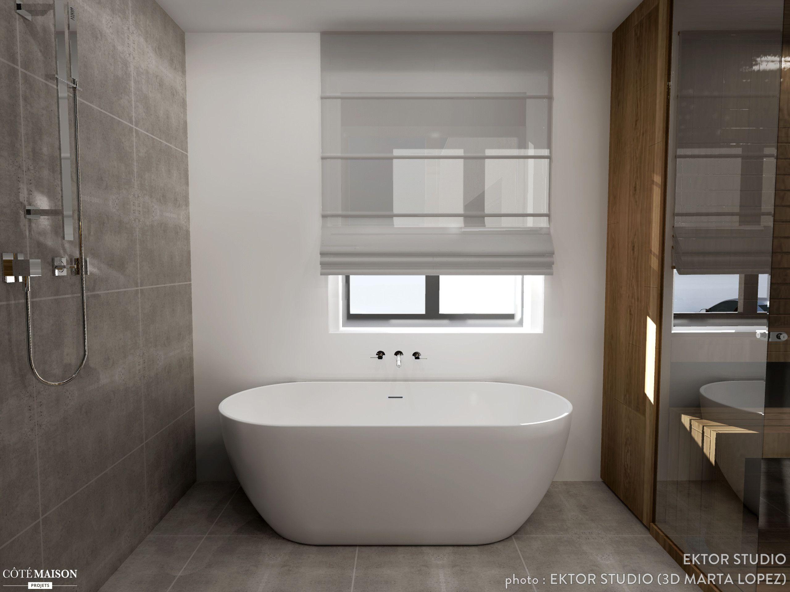 R alisation d 39 une salle de bains strasbourg ektor studio c t maison bathroom bathroom - Salle de bain strasbourg ...