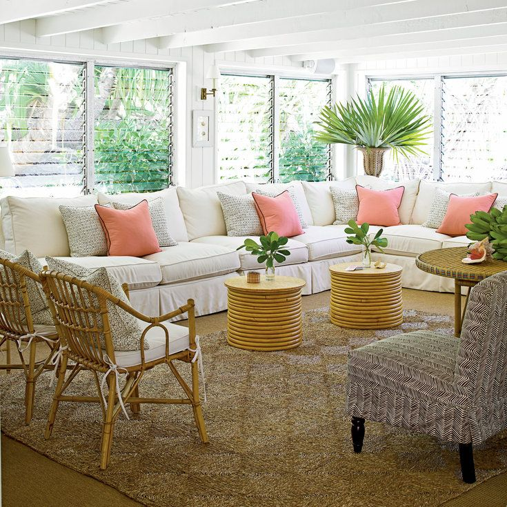 Classic Tropical Island Home Decor Coastal Living Quirky Rattan Pieces Add Hip 60s Flair To This C Tropical Home Decor Cheap Home Decor Tropical Furniture #tropical #living #room #decorations