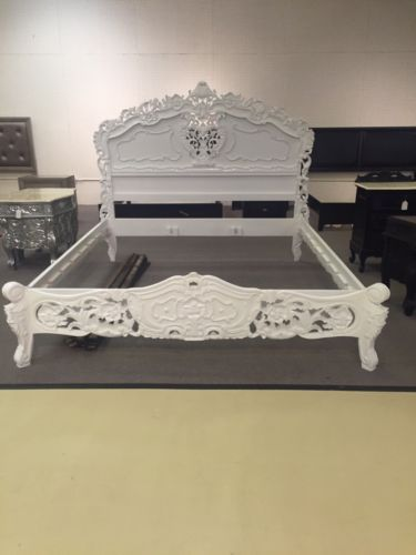 PRESALE White Ornate Hand Carved Mahogany French Baroque