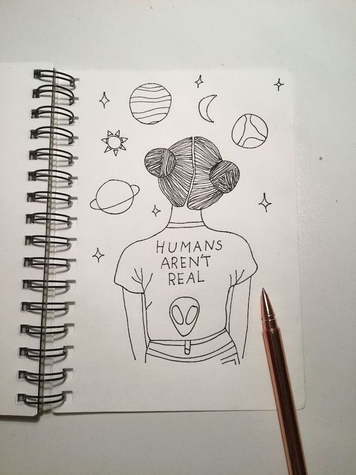 ▷ 1001 + ideas for cool things to draw – photos and tutorials – humans aren