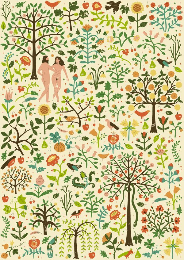 The Garden of Eden by Harriet Taylor Seed, via Behance