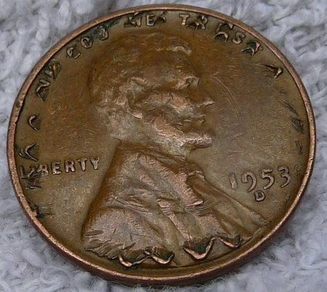 Crazy Penny Error Coin with Multiple Errors Unique 1953 D Lincoln Wheat Cent