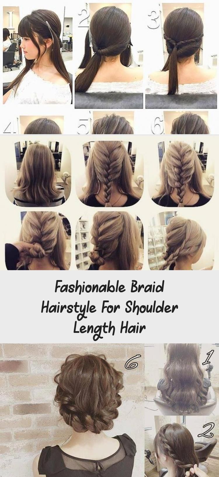 Fashionable Braid Hairstyle For Shoulder Length Hair Bighairtutorial Hairtutorialart Hairtutorialshoulderlen Hair Lengths Shoulder Length Hair Shoulder Hair