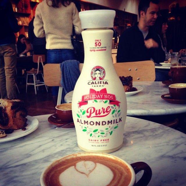 Did someone say Holiday Nog Latte? #califiafarms #holidaynog #soyfree #dairyfree #drinkremarkably