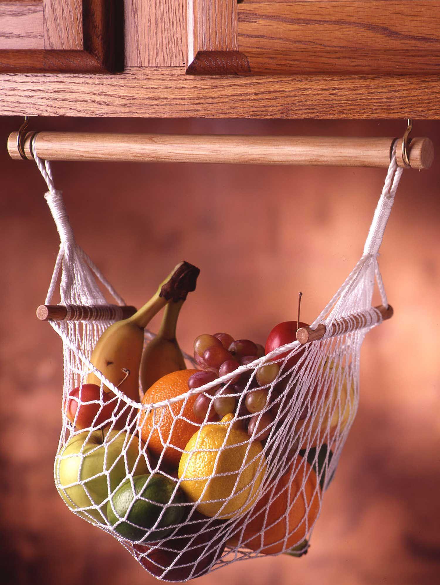 Under Cabinet Fruit & Veggie Hammock #wohnwagen