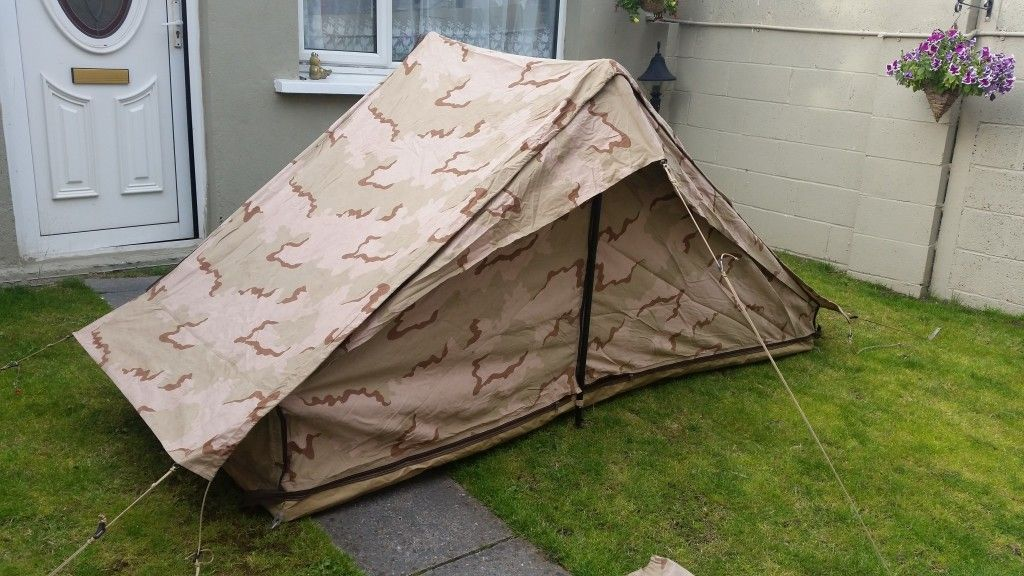 Dutch Army Desert DPM Camo 2 man Ridge tent waterproof material & Dutch Army Desert DPM Camo 2 man Ridge tent waterproof material ...