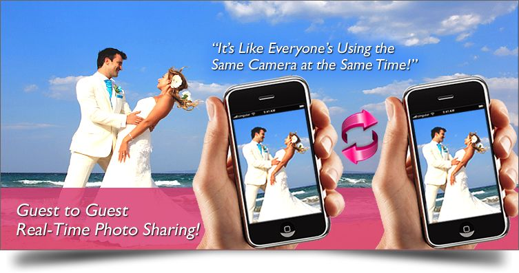 The Wedding Photo App For Guests To Take And Share Wedding Photos With The Bride Wedding Apps Wedding Photo Sharing Wedding Photo App
