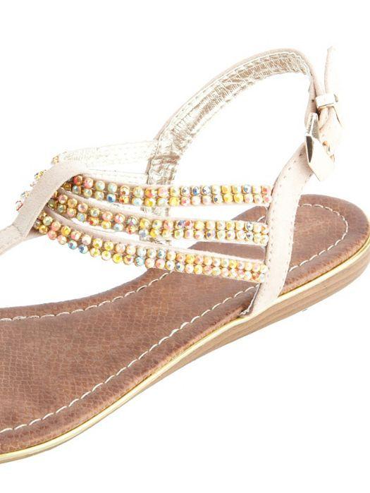 3e46e48de Rainbow Rhinestone Triple T-Strap Thong Sandals  Charlotte Russe · Flat  SandalsShoes ...