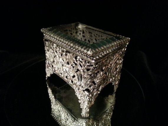 Antique Art Nouveau Jewelry Casket Trinket by OldGLoriEstateSale, $32.00