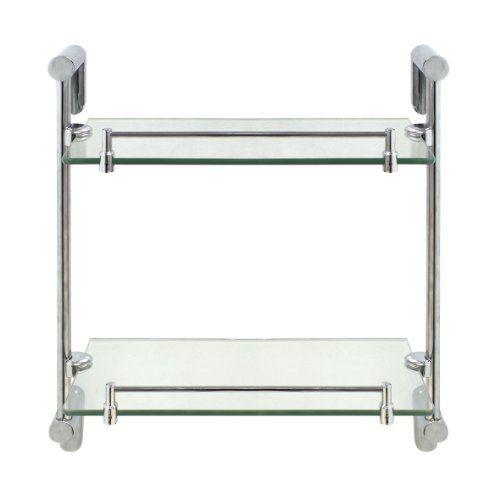 SALE PRICE - $2499 - MODONA Double Glass Shelf with Rail \u2013 Oval