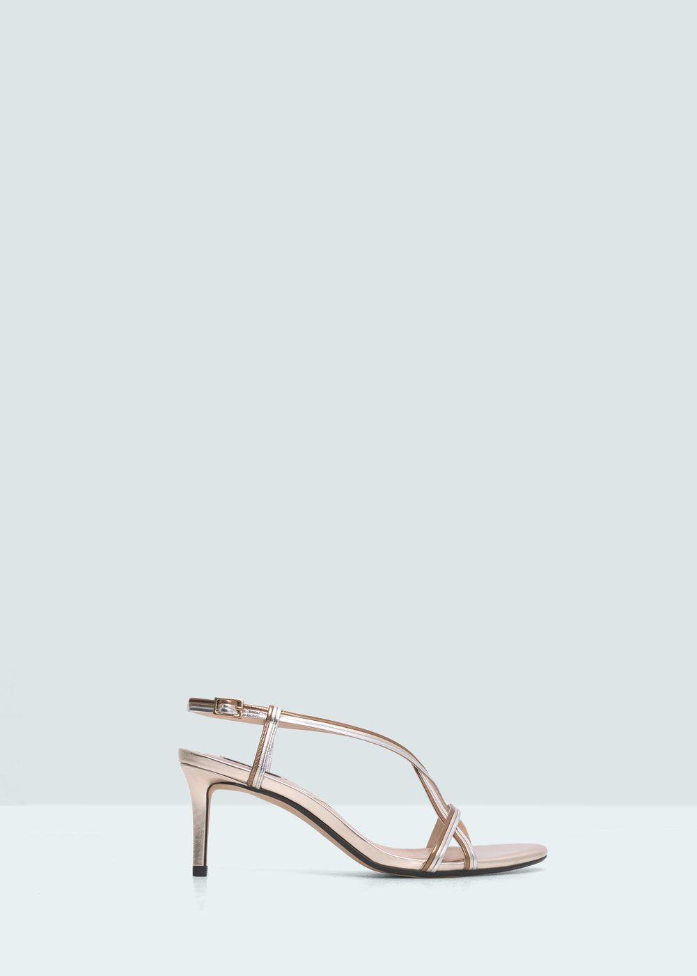 ff7faee0e74dd Sandalia tiras metalizada - Zapatos de Mujer