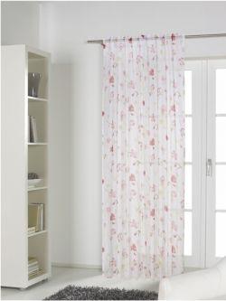 romantische gardinen mit rosen im landhaus flair gardinen outletcom - Landhaus Flair