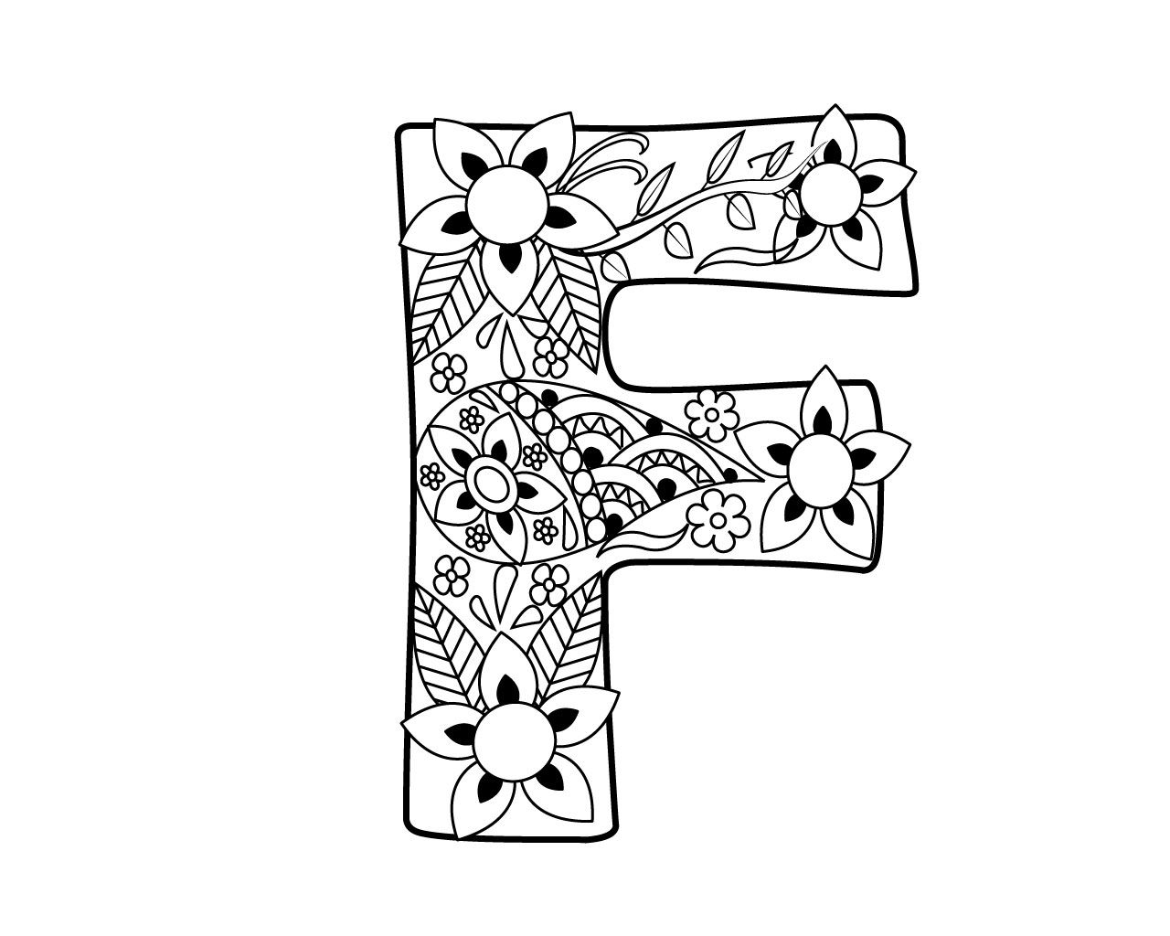 Letter F Coloring Pages For Toddlers