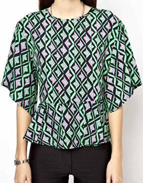 Daisy Street Geometric Kimono Top